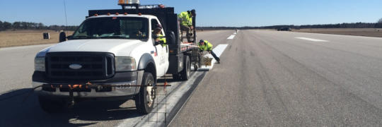 Refreshing markings on runways and taxiways will maximize airport safety