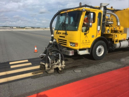 FAA requires rubber removal to maintain the correct friction coefficient for runways and taxiways